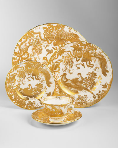 Gold Aves Dinnerware