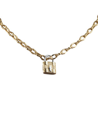 Appassionata Necklace & Lock Pendant, 18K Yellow Gold