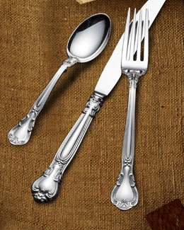 Wallace Silversmiths 66-Piece Gorham Chantilly Sterling-Silver Flatware Service