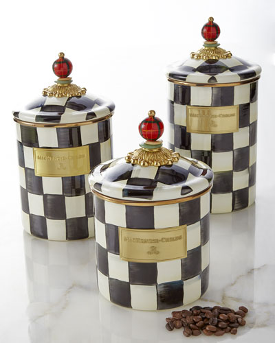 MacKenzie-Childs Courtly Check Canisters