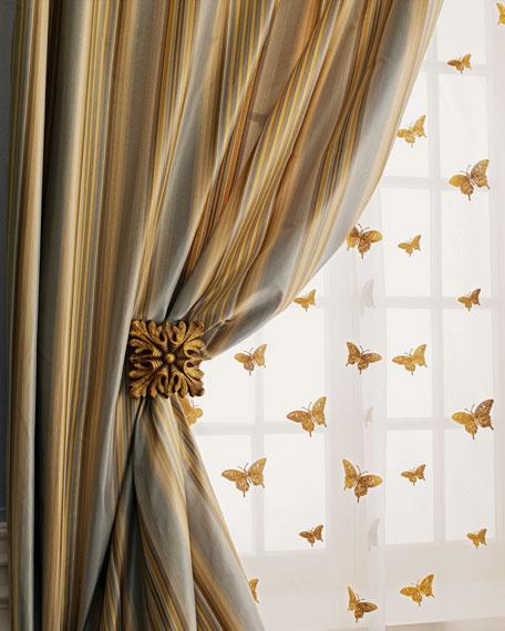 """Home Silks Each 108""""L Milano Striped Curtain"""