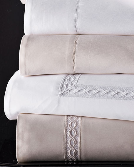 Two King 1,020 Thread Count Lace Sateen Pillowcases