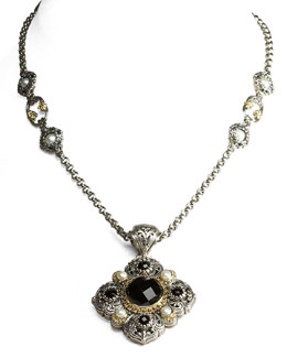 Konstantino Pearl Station Necklace