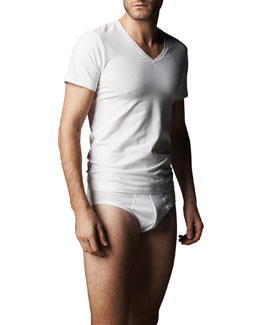 Hanro Cotton Superior V-Neck Tee & Briefs