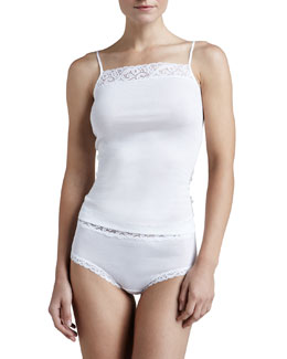 Hanro Moments Lace-Trim Cami & Full Briefs