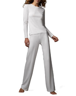 La Perla Tricot Long Sleeve Top & Relaxed Pants