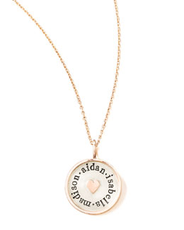 Heather Moore Rose Gold Chain & Framed Heart Charm