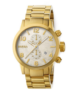 Brera Isabella Gold Chronograph on Bracelet