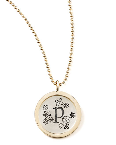 Heather Moore Beaded Chain & Personalized Flower Charm