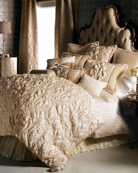 Neutral Modern King Damask Duvet Cover