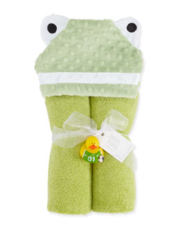 Swankie Blankie Hooded Frog Towel