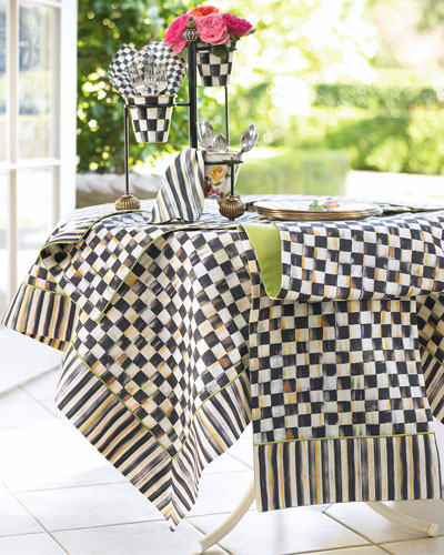 Courtly Check Tablecloth, Topper, Runner, Placemat, & Napkin