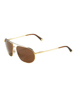 Dolce & Gabbana Two-Tone Thin Metal Aviators