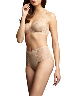 Chantelle Cachemire Underwire Bra & High-Waist Briefs