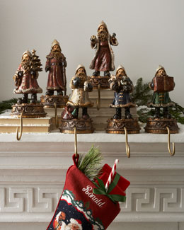 """Father Christmas"" Stocking Holders"