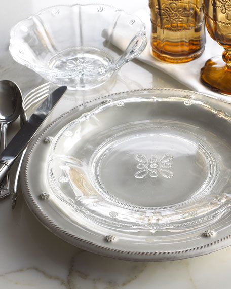 Colette Clear Glass Dinner Plate