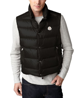 Moncler Tib Puffer Vests & Cable-Knit Beanie