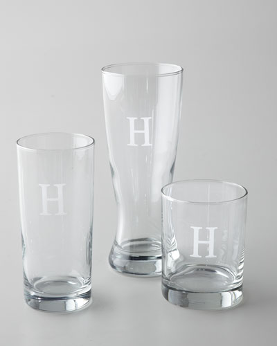 Monogrammed Glass Barware
