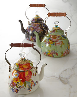 MacKenzie-Childs Flower Market Tea Kettles
