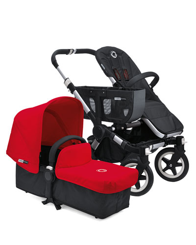 Bugaboo Donkey Stroller & Tailored Fabric Set, Red