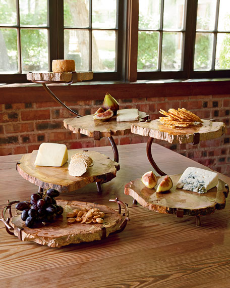 Janice Minor Petrified Wood Cheese Board