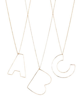 GaugeNYC Letter-Pendant Necklaces, A-C