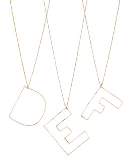 GaugeNYC Letter-Pendant Necklaces, D-F
