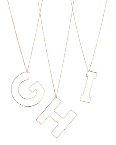 GaugeNYC Letter-Pendant Necklaces, G-I
