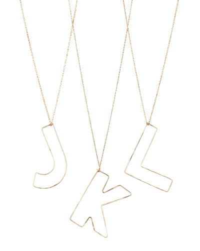 GaugeNYC Letter-Pendant Necklaces, J-L
