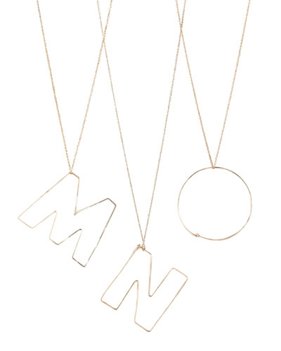 GaugeNYC Letter-Pendant Necklaces, M-O