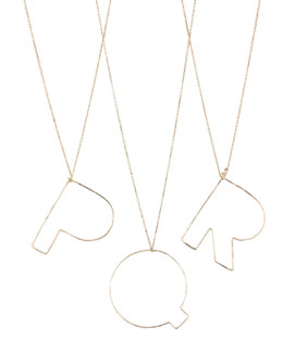 GaugeNYC Letter-Pendant Necklaces, P-R