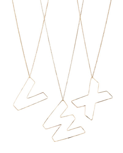 GaugeNYC Letter-Pendant Necklaces, V-X