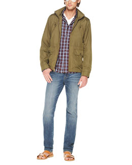 Michael Kors  Double-Layer Jacket, Narok Check Multi-Pocket Shirt, Liquid Jersey Tee & Modern-Fit Jeans
