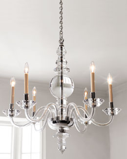 "VISUAL COMFORT ""George II"" Chandeliers & Sconce"