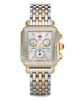 MICHELE Deco Day Diamond Two-Tone Watch