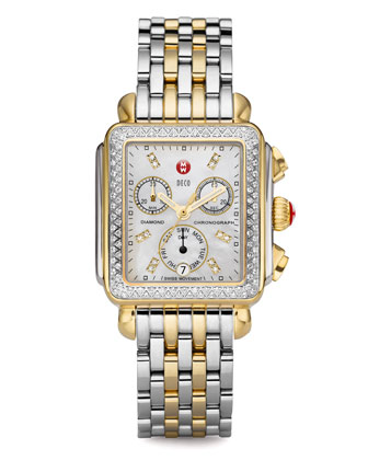 Deco Day Diamond Two-Tone Watch