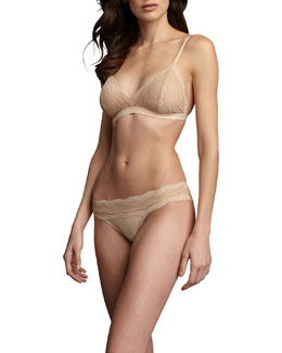 Cosabella Dolce Vita Soft Bra & Low-Rise Bikini Briefs, Blush