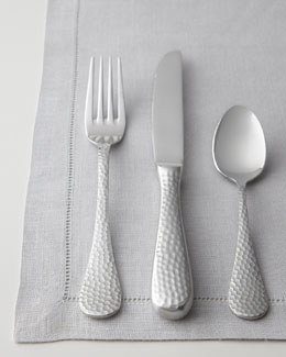 Wallace Silversmiths 65-Piece Euro Hammered Flatware Service
