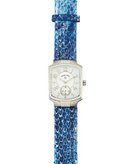 Philip Stein Diamond Watch Head & Blue Python Strap