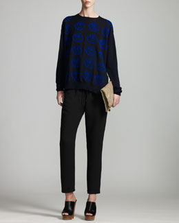 Stella McCartney Rose-Knit Sweater & Cuffed Drawstring Pants
