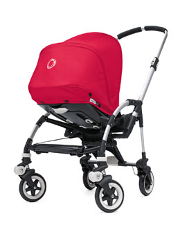 Bugaboo Bee Stroller Base & Sun Canopy, Coral Red