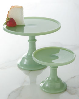 """Jadeite"" Cake Plates"