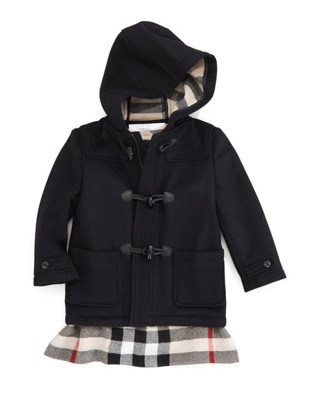 Unisex Hooded Toggle Coat, Navy
