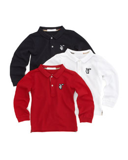 Burberry Long-Sleeve Polo