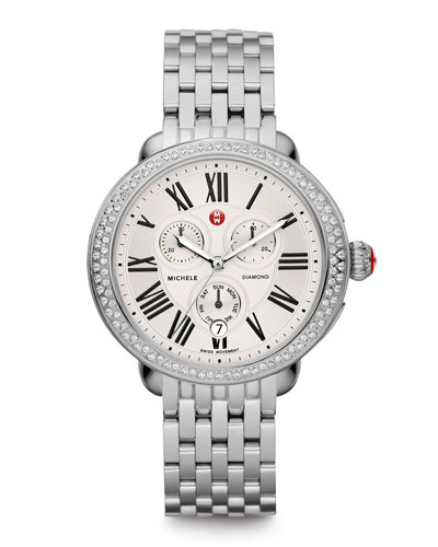 MICHELE Serein Diamond Watch Head & Stainless Steel Bracelet Strap