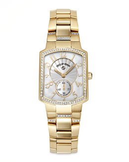 Philip Stein Small Classic Gold-Plated Diamond Watch Head & Gold-Plated Diamond Bracelet