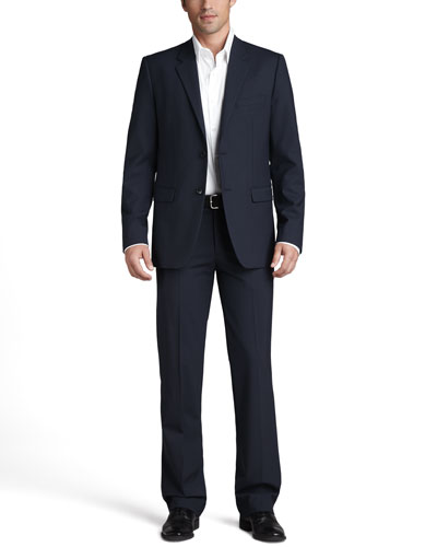 Theory Stretch-Wool Suit & Stretch-Cotton Shirt
