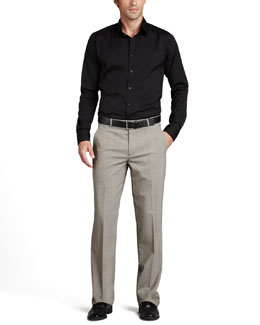 Theory Stretch-Cotton Shirt & Dress Pants