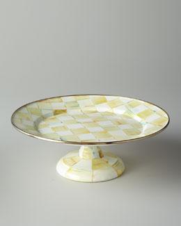 MacKenzie-Childs Parchment Check Pedestal Platters