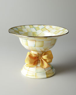 MacKenzie-Childs Parchment Check Compote